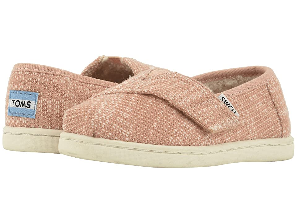 TOMS Kids Alpargata (Infant/Toddler/Little Kid) (Rose Cloud Oblique Woven/Faux Shearling) Girl