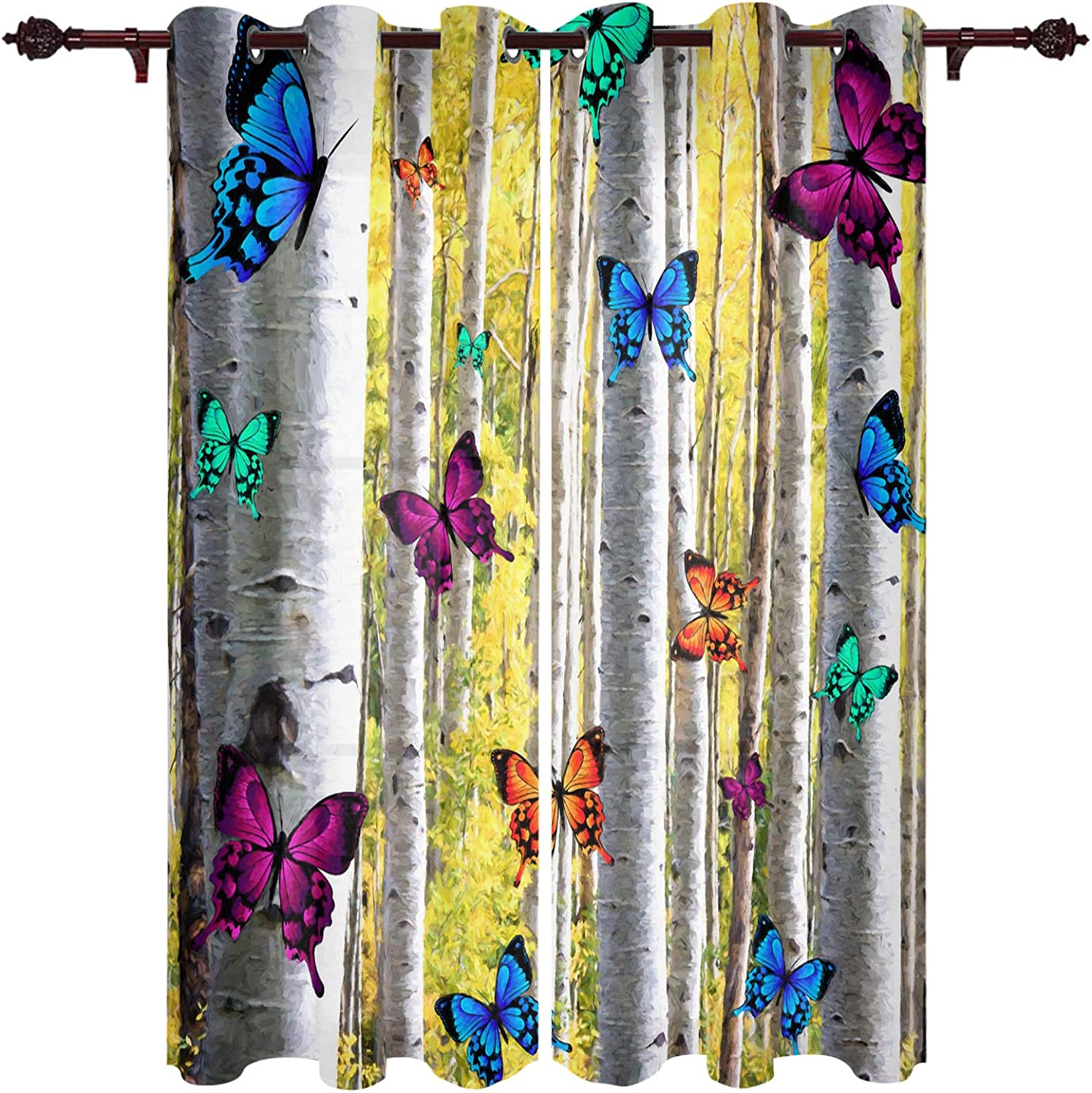 EZON-CH Super sale period limited Selling and selling Window Draperies Grommet Room Pane Curtain Living