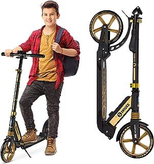 اسکوترهای SKIDEE برای کودکان 8 سال به بالا - اسکوتر تاشو با چرخهای 8 اینچی و سیستم تعلیق ضد شوک - 4 سطح تنظیم برای گسترش دسته فرمان تا 41 اینچ بالا - ظرفیت وزن 220 پوند