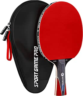 Ping Pong Paddle with Killer Spin - Table Tennis Paddle with Comfort Grip 2.0 mm Spunge - Table Tennis Racket Bat with Gif...