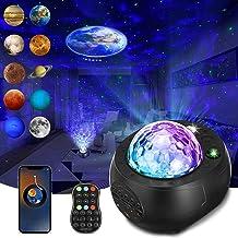 Star Projector Nachtlampje Galaxy Projector Light SOLMORE Star Light Projector Galaxy met Planeten Ingebouwde Bluetooth Sp...