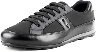 d9ed05fac Prada Men's Leather with Nylon Trainer Sneakers, Nero (Black) 4E3231 (11 M