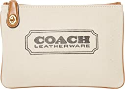 COACH Turnlock Pouch 26,B4/Canvas Light Saddle