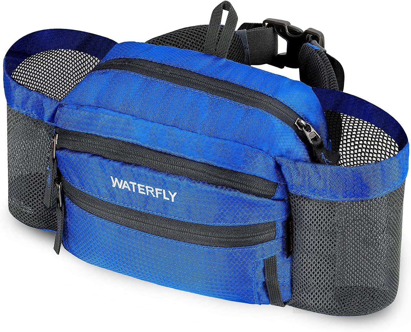 WATERFLY Hiking Fanny Pack Colorado Springs Mall with Water Bottle Waist Bag Holder fo Dedication
