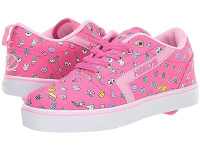 Heelys GR8 Pro Prints (Little Kid/Big Kid/Adult) (Hot Pink/Light Pink/Emoji) Girls Shoes