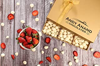 Andy Anand's Chocolates with Plush Teddy Bear, Premium Strawberry covered with Greek Yogurt Chocolate 1 lbs, Gourmet Food Gift, Haloween Thanksgiving Friendship Day, Christmas Veterans Columbus Day