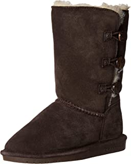 Bearpaw Girls' Lauren Youth Fashion Boot, Chocolate, 4 M US Big Kid