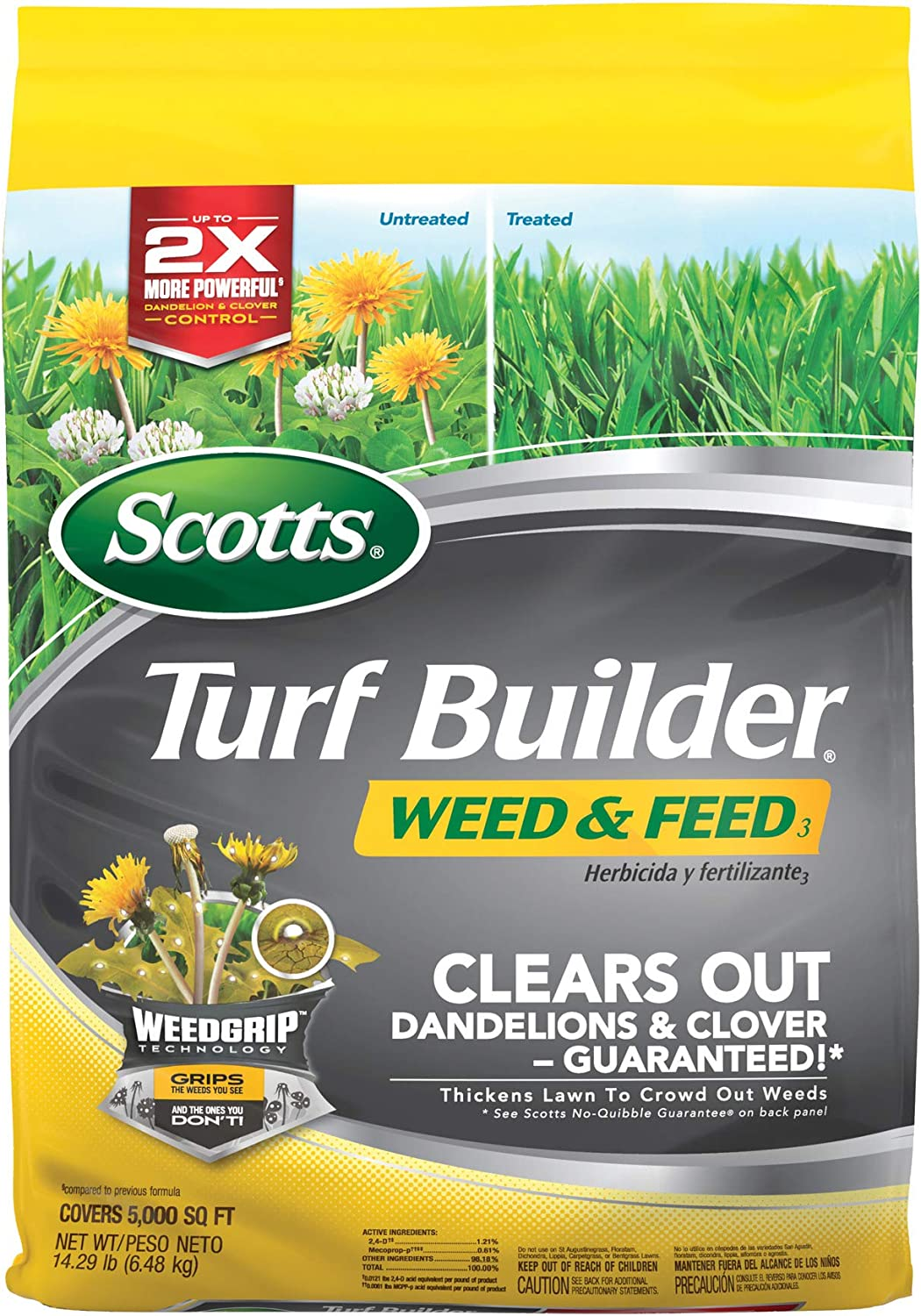 Scotts 5,000 Sq. Ft Turf Builder Weed and Feed  $14.86 Coupon