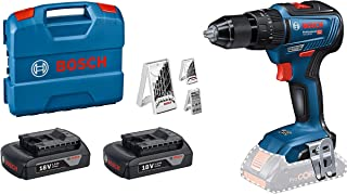 Bosch Professional 18V System cordless Combi Drill GSB 18V-55 (max. Torque 55 Nm, Including 2x1,5 Ah Battery, charger GAL ...