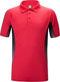 Quick-Dry Sweat-Wicking Color Block Athlete Short Sleeve Polo for Men