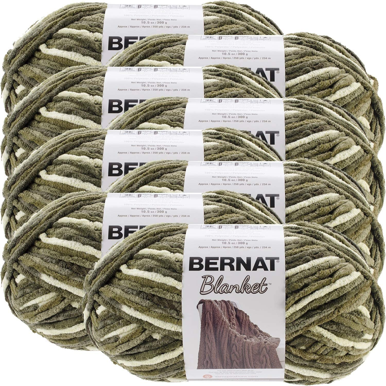 Bernat Gathering Moss Blanket Big of Manufacturer regenerated product 8 Ball Special price Yarn Multipack