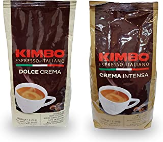 Kimbo Espresso Variety Intensa + Dolce Whole Bean, 2.2 lbs (Pack of 2)