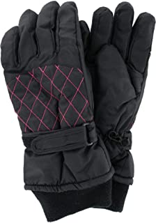 Polar Extreme Women's Waterproof Quilted Ski Glove with Wrist Strap