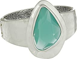 The Sak - Large Stone Hinged Bracelet