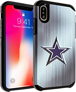 iPhone X Case, DURARMOR iphone X Blue Star Dual Layer Hybrid ShockProof Ultra Slim Fit Armor Air Cushion Defender Protector Cover for iPhone X Blue Star (Cowboys)