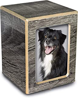 Chateau Urns - Society Collection - Photo Keepsake Cremation Urn - Memorial Box for Ashes - Small (up to 46 lbs) - Coastal...