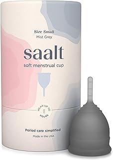 Saalt - Copa menstrual suave – Super suave y flexible – la mejor taza sensible – uso durante 12 horas – Fabricado en Estados Unidos