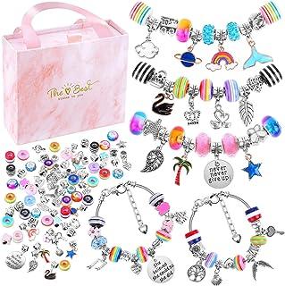 Bracelet Making Kit for Girls, Flasoo 85PCs Charm Bracelets Kit with Beads, Jewelry..