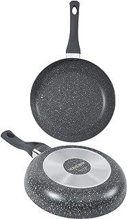 HOMEWAY - 2 PIECE, 5 LAYER MARBLE FRYING PAN SET, 24cm FRY PAN + 26cm FRY PAN - HW3458