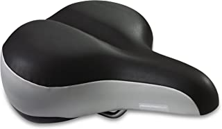 Diamondback Women's Pillow Top Bicycle Saddle, Black/Gray