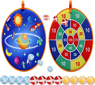 Rapify Dart Board Games for Kids, Board Games Kit with 12 Sticky Balls, 13.8 in Dartboard Set with Hook, Safe & Classic To...