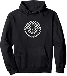 Checkered Smiley Face Pullover Hoodie