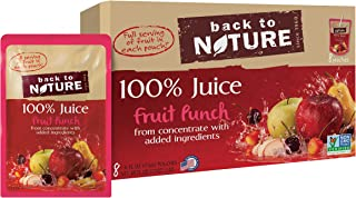 Back to Nature 100% Juice, Non-GMO Fruit Punch, 6 Ounce, 8 Count (Pack of 5)