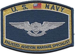 Navy Enlisted Aviation Warfare Specialist Patch 4 1/2