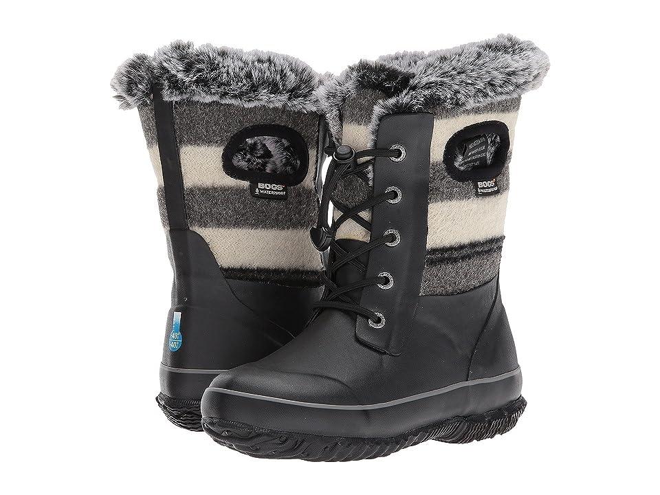Bogs Kids Arcata Wool Stripe (Toddler/Little Kid/Big Kid) (Black Multi) Girls Shoes