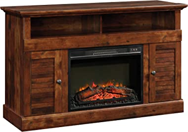 "Sauder Harbor View Media Fireplace, for TVs up to 60"", Curado Cherry finish"
