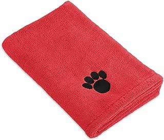 Bone Dry DII Microfiber Dog Bath Towel with Embroidered Paw Print