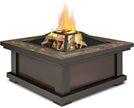 Real Flame 910-BK Alderwood Burning Fire Pit