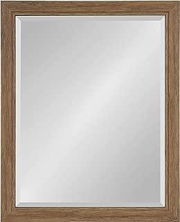 Kate and Laurel Dalat Framed Beveled Wall Mirror, 26x32, Midtone Brown