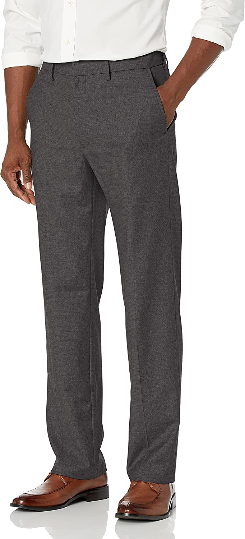 Haggar Men's Texture Weave Stretch Classic Fit Suit Separate Pant