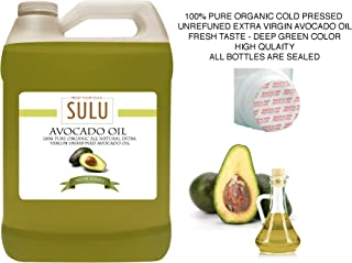 4 LBS(64 OZ) 100% Pure Organic Cold Pressed Unrefined Extra Virgin Raw Avocado Oil All Natural