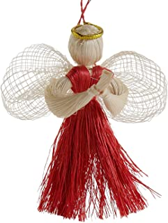 Ten Thousand Villages Sinamay and Abaca Ornament 'Angel of Nature Ornament'