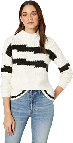 Multi Texture Crew Neck Sweater