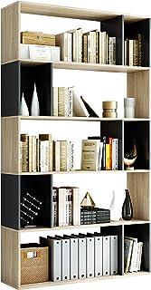 Homfa Estantería Librería Estante para Libros Estantería de Madera para Oficina Salón Estudio Dormitorio con 5 Niveles Rob...