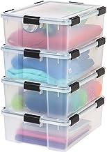 IRIS USA UCB-L WEATHERTIGHT Storage Box, 4 Pack, 41 Qt. (4-Pack), Clear