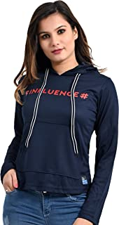 Plush Women Gym Wear Regular fit Hoody Tshirt/T-Shirts (5000)