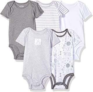 Lamaze Baby Organic Essentials 5 Pack Shortsleeve Bodysuits