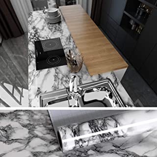 VEELIKE Marble Contact Paper 40cm x 900cm Easy to Clean Removable Peel and Stick Wallpaper Self-adhesive Film Shelf Paper Decorative Paper for Dining Room Living Room Kitchen Bathroom