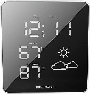 Frigidaire 308-2414FR Wireless Square Mirrored Extra Bright LED Forecast Station