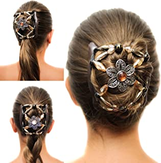 Fancy Combs Hair Clip Comb with Interlocking System, The Best Hair Accessories for Women - Bun Maker, French Twist Holder For Long, Short, Thick or Thin Hair - Decorative Hair Accessories for Women