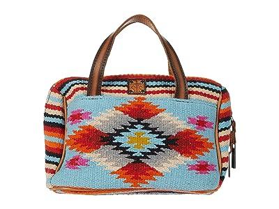 STS Ranchwear Saltillo Makeup Bag (Light Blue/Orange/Pink) Bags