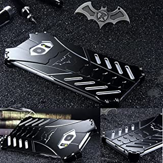 For Samsung Galaxy S7 Edge Case, R-JUST Luxury Batman Aluminum Shell Bumper Shockproof Tough Armor Metal Back Case Skin Protective Cover + Bat Kickstand (For Samsung Galaxy S7 edge)