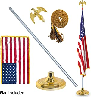 EasyGoProducts EGP-POLE-006 3' X 5' American w/Indoor Pole Kit-with Flag