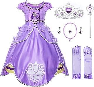Girls Princess Costume Floor Length Birthday Party Dress up