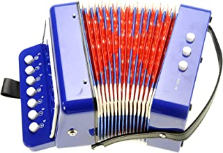 PowerTRC Children's Accordion | Musical Instrument | Easy to Learn Music | Kids Instrument | Blue