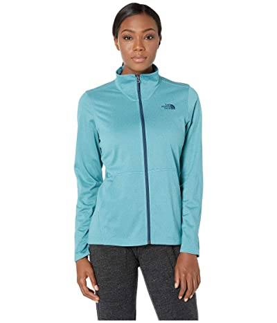 The North Face Tech Mezzaluna Full Zip (Storm Blue Heather) Women